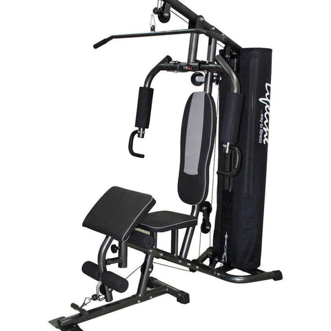 Image of Lifeline Home Gym Machine Deluxe 005 For Workout At Home Bundles With Resistance Band, Skipping Rope and Exercise Curve Bench 5501A || Available on EMI-IMFIT