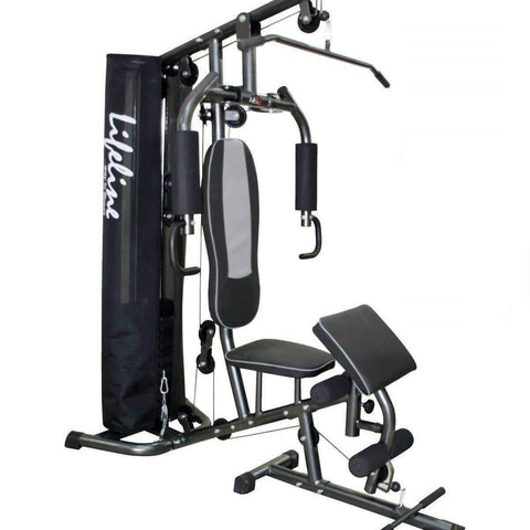 Image of Home Gym Combo - Lifeline Fitness Home Gym HG005 RP and Viva Fitness 203A Adjustable Bench