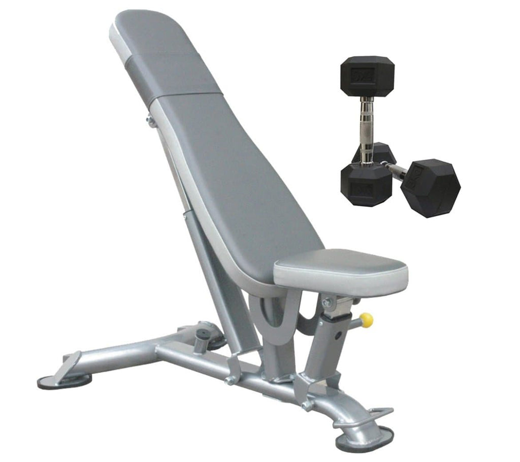 Viva Fitness IT7011 Multi Adjustable Gym Bench || Bonus With Hexagonal Dumbbells