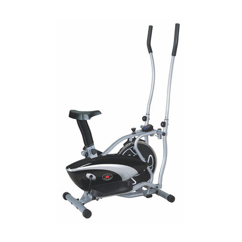 Dual Trainer Elliptical And Bike - Viva Fitness KH-235 Metallic Double Burner Commercial Elliptical Strider For Exercise