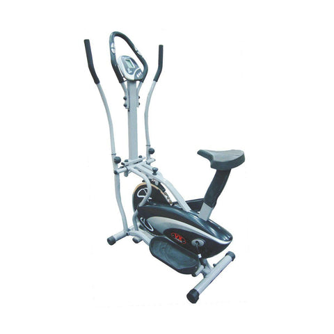Small Elliptical Trainer - Viva Fitness KH-350 Metallic Double Burner Commercial Elliptical Strider For Exercise