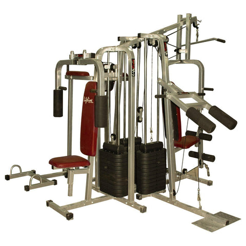 Image of Lifeline Fitness Equipment 6 Station Home Gym with 3 Weight Lines || Available on EMI-IMFIT