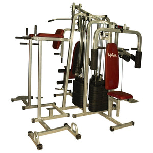 Lifeline Fitness Equipment 6 Station Home Gym with 3 Weight Lines || Available on EMI