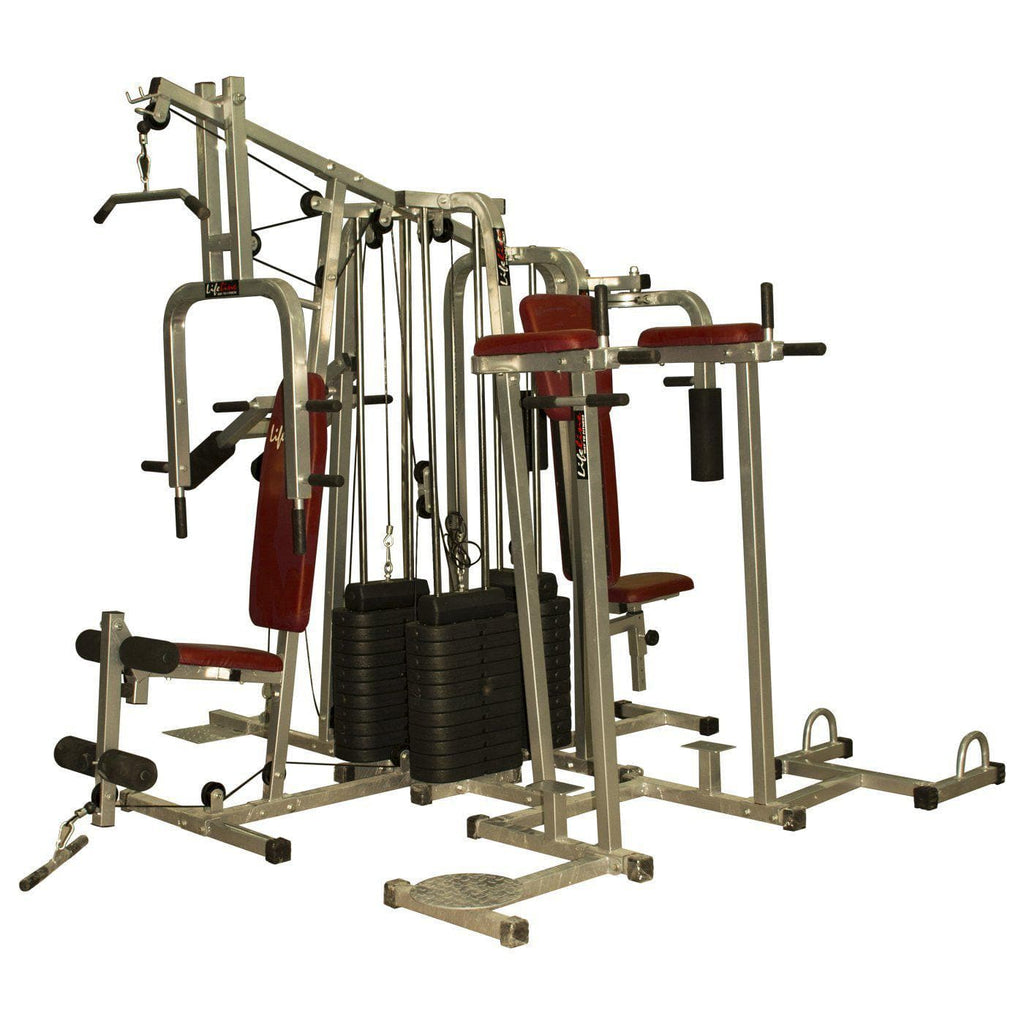 Lifeline Fitness Equipment 6 Station Home Gym with 3 Weight Lines || Available on EMI-IMFIT