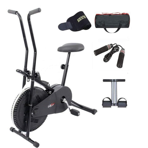 Image of Lifeline Exercise Cycle | Bonus with Gym Bag, Sweat Belt, Tummy Trimmer and Skipping Rope