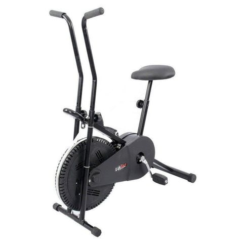 Lifeline Combo Of Exercise Bike (Black) Bundles with Gym Bag, Sweat Belt, Tummy Trimmer and Skipping Rope-IMFIT