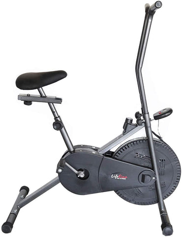 Image of Lifeline 102 Steel Gray Fitness Cycle | with Sweat Belt