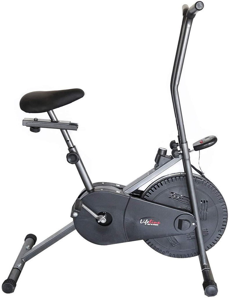 Lifeline 102 Steel Gray Fitness Cycle | Bonus with Tummy Trimmer, Gym Bag, Yoga Mat, Skipping Rope and Sweat Belt
