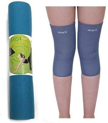 Lifeline Exercise Cycle 102 Steel Gray for Weight Loss at Home || Bundles with Yoga Mat (6mm) and Knee Cap (Four Way Stretch)