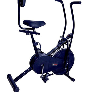 Lifeline 103 Back Support Exercise Bike | Bundles with Gym Bag, Sweat Belt and Tummy Trimmer