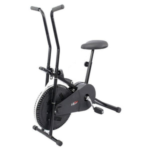 Lifeline Exercise Bike Combo (Black) with Gym Bag, Sweat Belt, Pull Reducer and Skipping Rope
