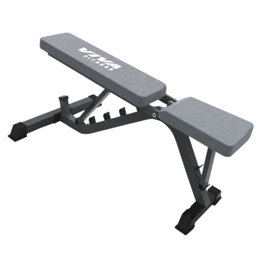 Home Gym Combo - Lifeline Fitness Home Gym HG005 RP and Viva Fitness 203A Adjustable Bench