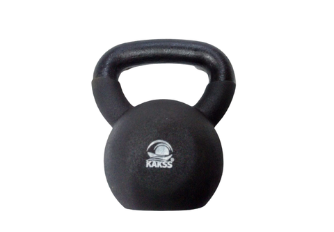 Image of Vinyl Kettlebell Half Coating Neoprene Kettlebell For Gym & Home Use