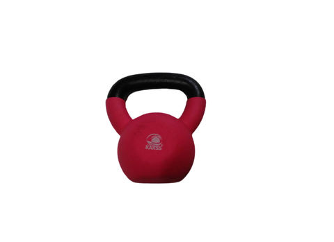 Vinyl Kettlebell Half Coating Neoprene Kettlebell For Gym & Home Use