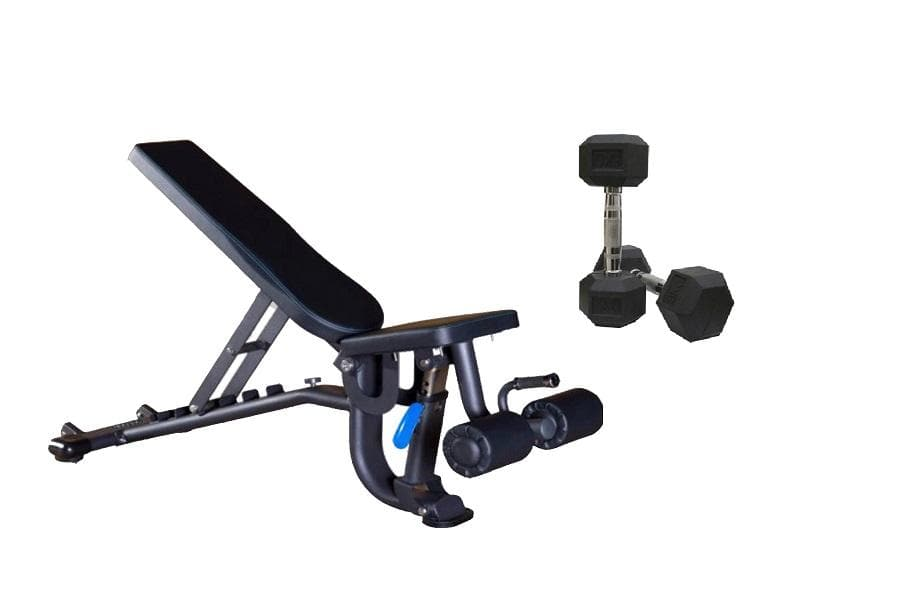 Viva Fitness JF 1244 Multi Exercise Adjustable Bench || Bonus With Hexagonal Dumbbells