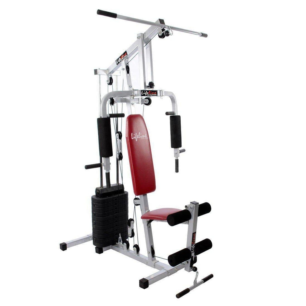Lifeline Home Gym 002 Bonus with Weider Mega Mass 4000 2.3 kg (Smooth Chocolate)-IMFIT