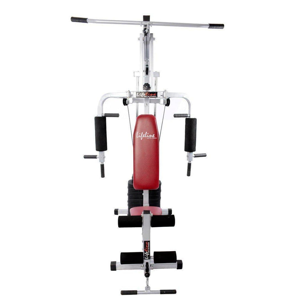 Lifeline Home Gym 002 Bonus with Weider Mega Mass 4000 3.9 kg and (Smooth Chocolate)-IMFIT