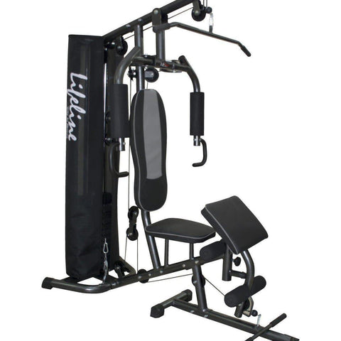 Image of Lifeline Home Gym 005 Deluxe Bundles with Weider CFM Whey Protein 908 GMS (Milk Chocolate) and Weider Premium BCAA Powder 500GMs (Sunny Orange)-IMFIT