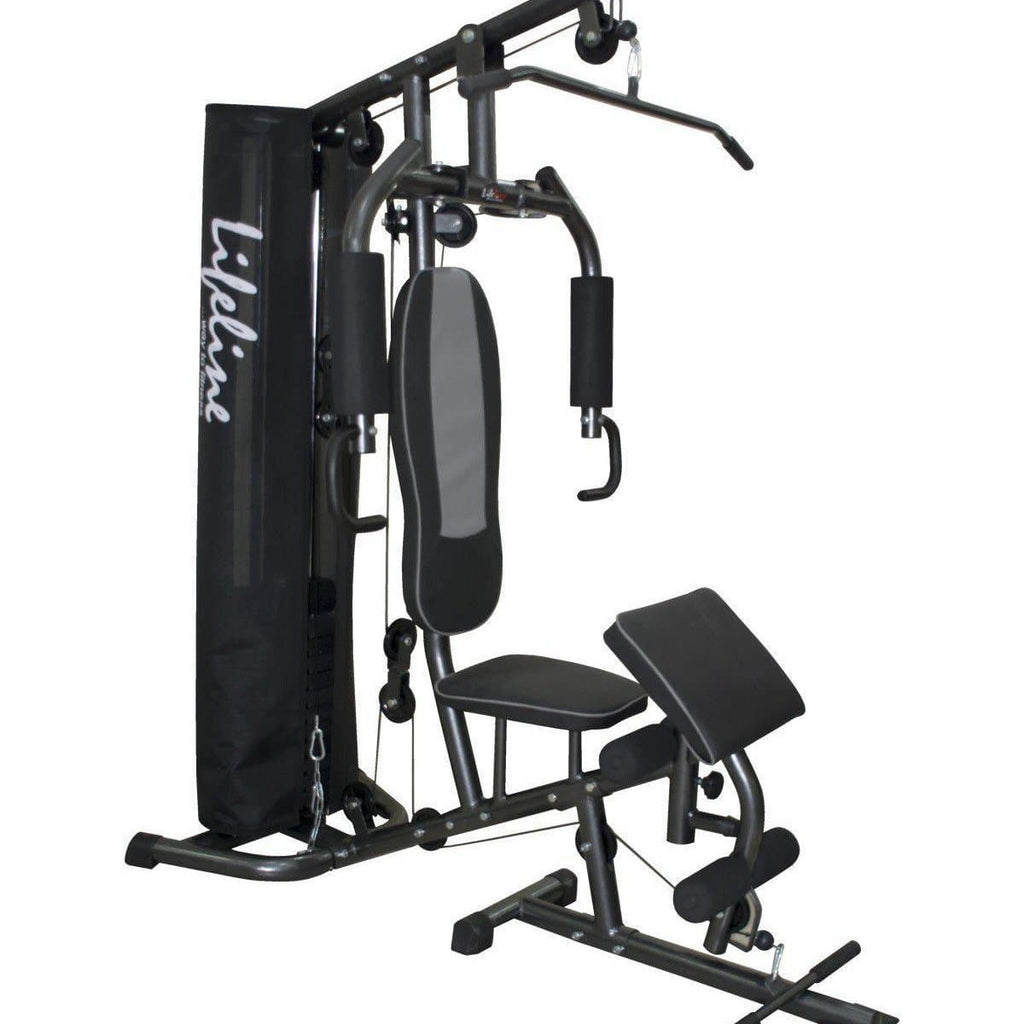 Lifeline Home Gym 005 Deluxe Bundles with Weider Mega Mass 4000 3.9 kg (Smooth Chocolate)-IMFIT