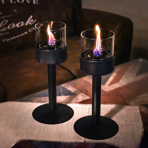 Passion Glass Candle Deluxe Set (w/ 2 Stands)