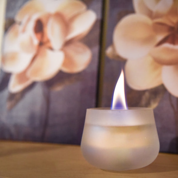 Mist Glass Round Candle