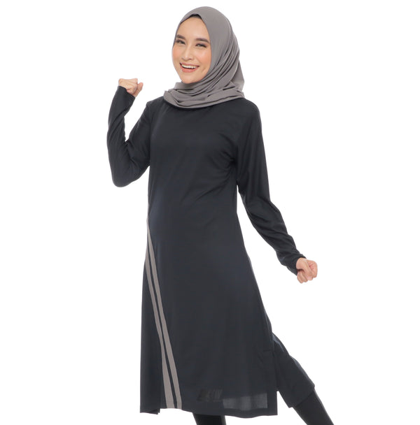 Long Stripe Basic Black - Grey