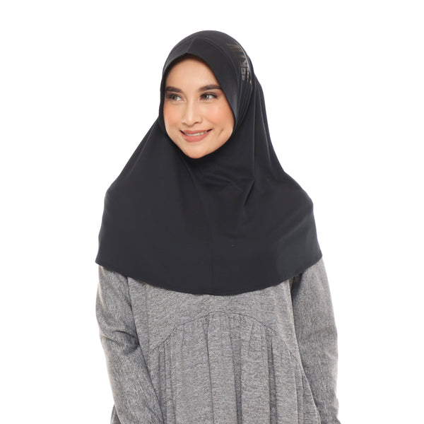 Running Hijab Black