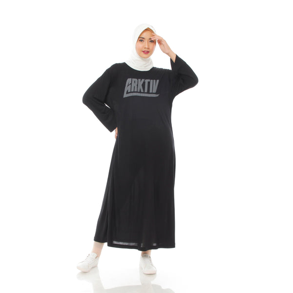 Comfy Dress Black Long Sleeve
