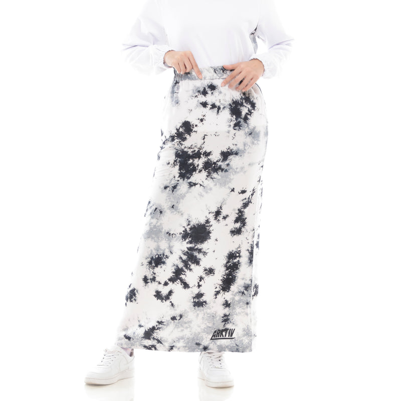 Splash Tiedye Skirt Black