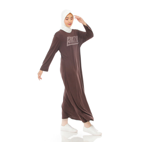 Comfy Dress Brown Long Sleeve