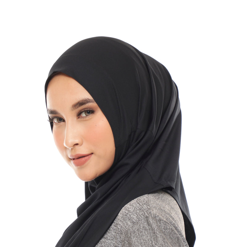 Wave Hijab Black | Hijab