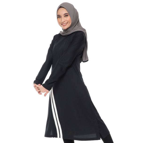 Long Stripe Basic Black - White