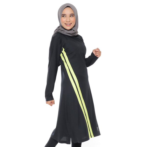 Long Stripe Basic Black - Yellow