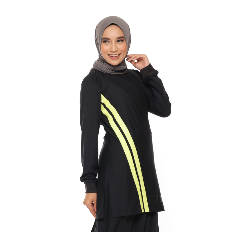 Short Stripe Basic Black - Yellow