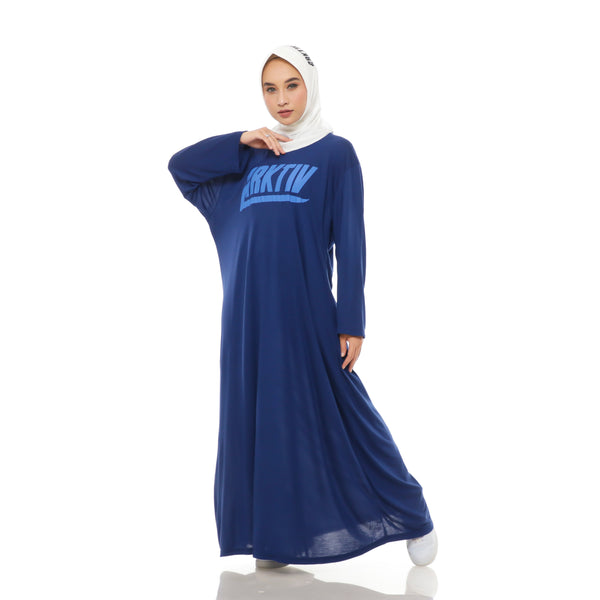Comfy Dress Blue Long Sleeve