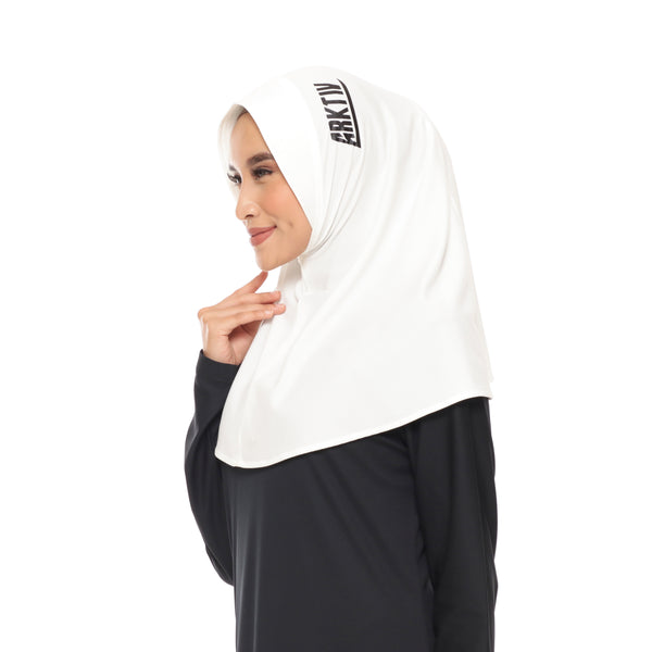Running Hijab White