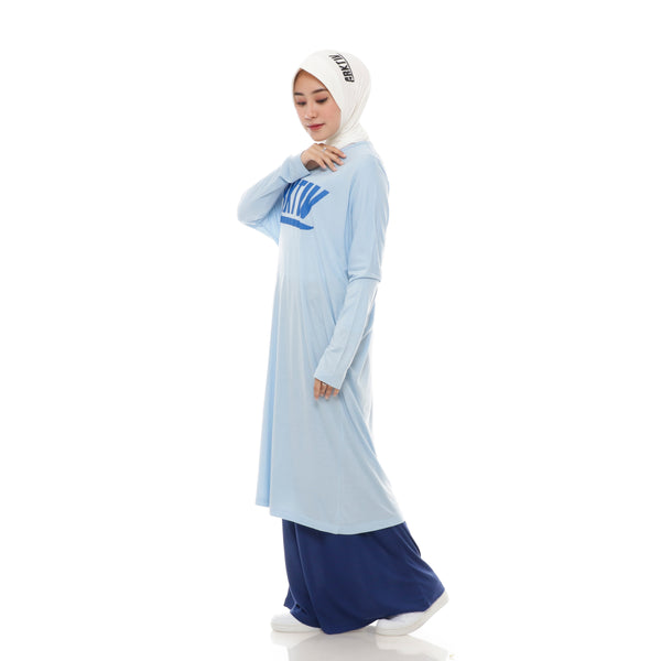 Comfy Long Tshirt Blue
