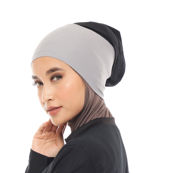 Inner Hijab Grey - Black
