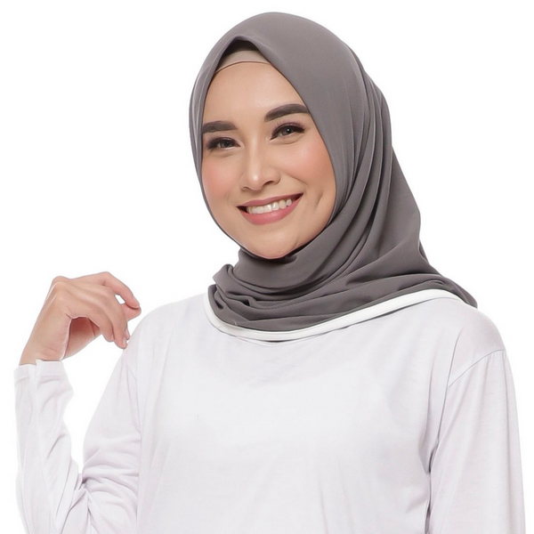 Basic Amrah Dark Grey - White
