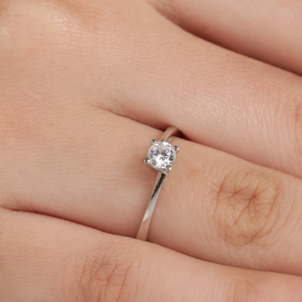 Classic Bypass Engagement Ring