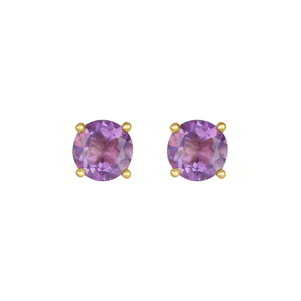 Birthstone Round Amethyst for February