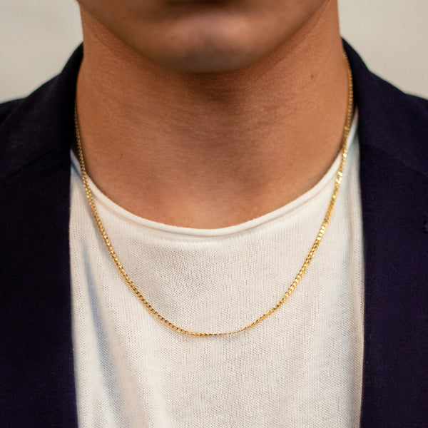 Concave Curb Chain Necklace