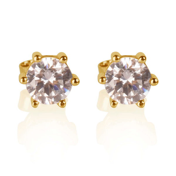 Esme Yellow Gold Studs