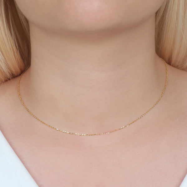 Rolo Yellow Gold Chain