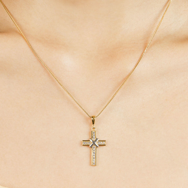 Pavé Cross Pendant