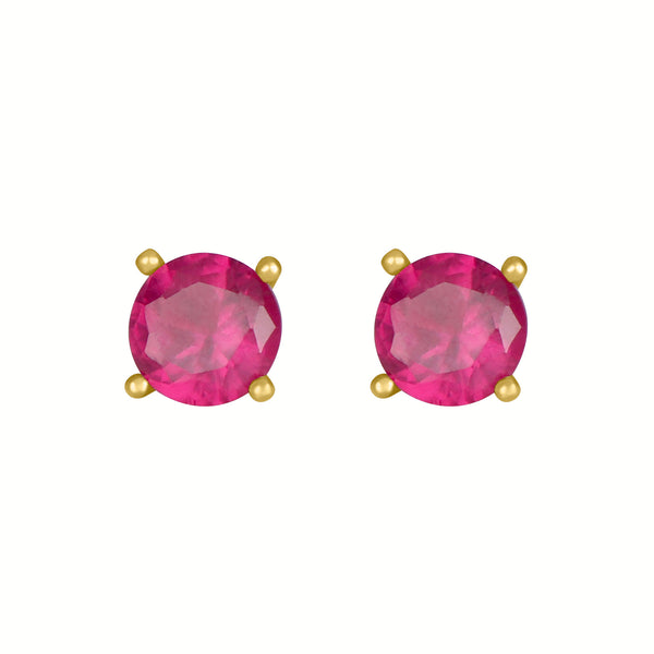 Ruby Round Earrings