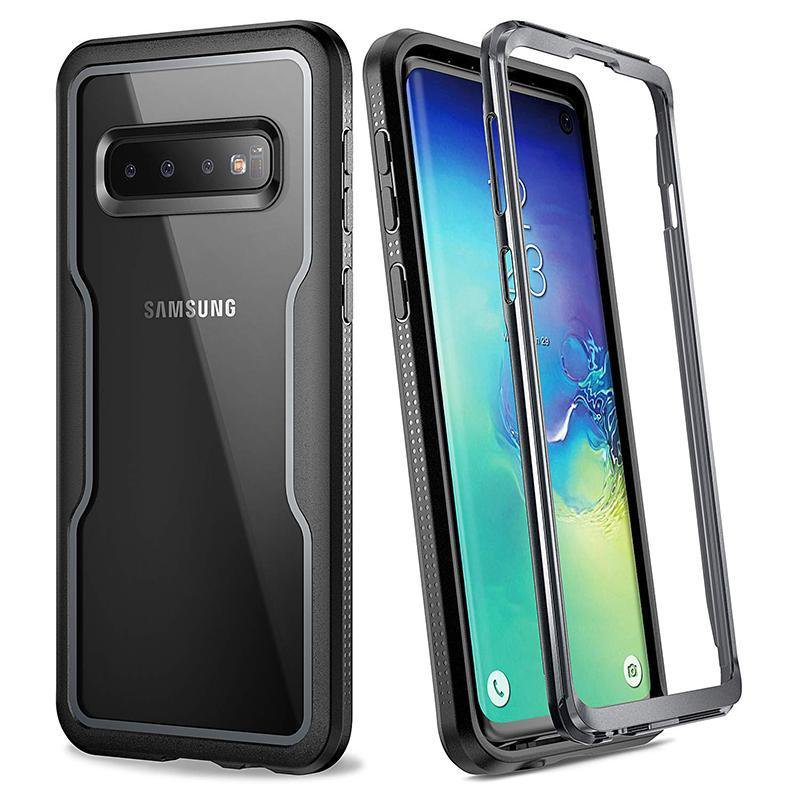YOUMAKER Crystal Clear Case for Galaxy Note 9 Full Body with Built-in Screen Protector Heavy Duty Protection Slim Fit Shockproof Rugged Cover
