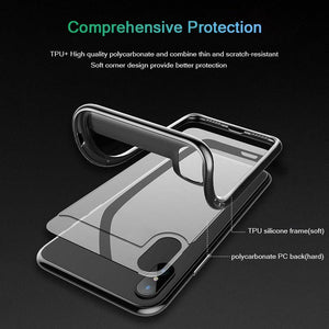 Naked Back Phone Case Transparent Drop Protection Cover for iPhone 6/6s/7/7p/8/8p/6p/6sp/X/XS/XS