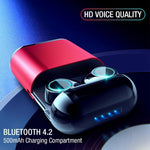 Wireless Bluetooth Earphone TWS Earbuds Bluetooth Headphones Stereo V4.2 Bluetooth Earphone With Mic