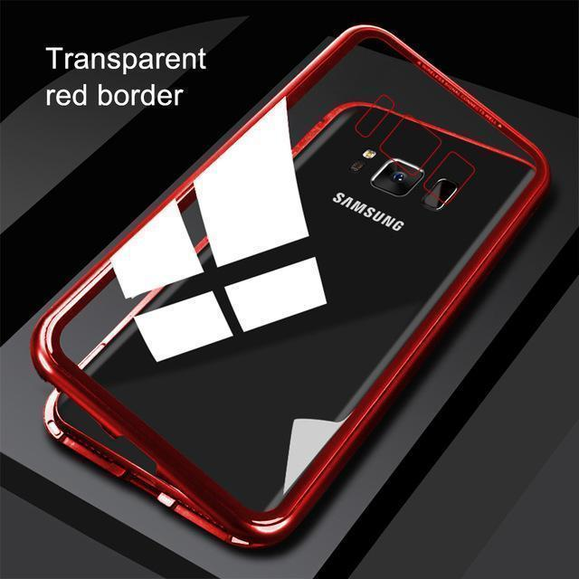 Magnetic Adsorption Flip Phone Case for Samsung S7/S7 Edge S8/S8Plus S9/S9 Plus Note 8/Note 9